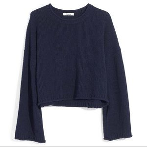 NWT Madewell Brownstone Pullover sweater in navy-M